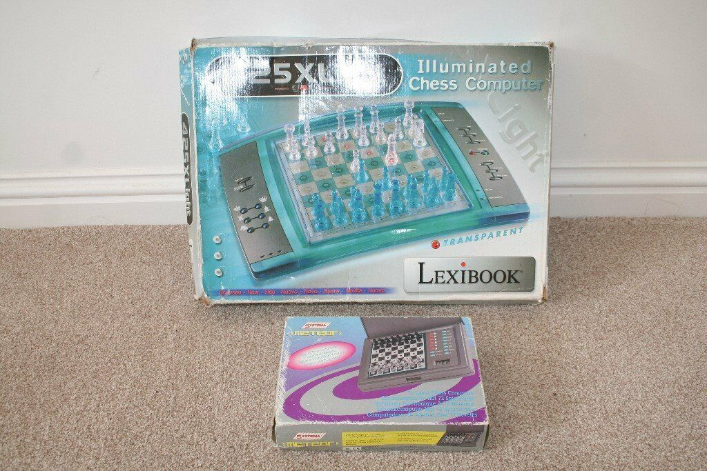 Lot of 2 Chess Computers - Leximark Illuminated LCG3000 & Systema METEOR    in Great Yarmouth, Norfolk   Gumtree