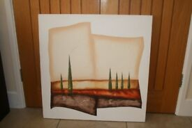 Unframed, modern painting on canvas