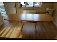 Skovby extending Dining Table and 6 High-back Chairs