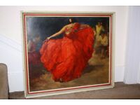 "Vintage print ""The red skirt"" by F.R.S Clemente."