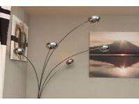Retro 5-Way Chrome Arc Floor Lamp
