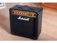 MARSHALL MG15CD GUITAR AMPLIFIER - 15 watt combo practice amp excellent condition