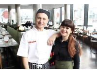 Chef de Partie + Italian fresh food + big kitchen + great team + solid pay + service charge