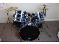 Ludwig Custom Accent Combo, 5 Piece drum kit. Zildjian Planet Z Cymbals