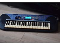YAMAHA PSR-140 KEYBOARD WITH POWER ADAPTER CAN BE SEEN WORKING