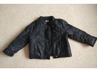 Girls leather style jacket age 2-3years
