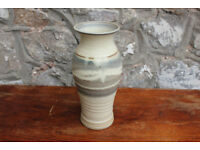 "Vintage Handmade Stoneware Studio Pottery Vase 9"" High / 23cm"