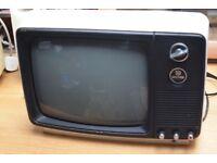Waltham No W199 - Vintage 1980s Monochrome Portable Television