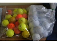 2 Bags of Golf Ball White, Orange and Yellow