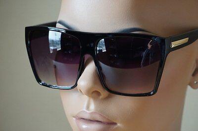 Flat Top Square Retro Vintage Big Oversized Aviator Sunglasses Mens Womens (Mens Flat Top Sunglasses)