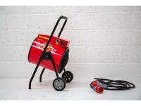 Clarke Devil 7015 15Kw Industrial Electric Fan space heater on wheels warehouse
