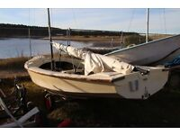 Wayfarer Dinghy sailing boat incl. Marina 3.3 outboard and Findhorn Marina pitch up to May 2017