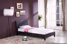 """Brand New Single leather bed with Memory Foam Mattress!! ORDER NOW """"Express Delivery"""""""