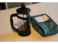 French Press (BONUS: bag of ground coffee)