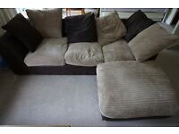 HOME New Bailey Reg Jumbo Cord Right Corner Sofa - Natural. Product code:498/4043 (ARgos)