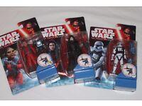 "3 x Star Wars Ep7 3.75"" figures NIEN NUNB/KYLO REN (UNMASKED)/FIRST ORDER STORMTROOPER LEADER - NEW"