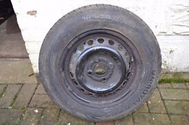 Vauxhall Corsa B spare wheel and tyre