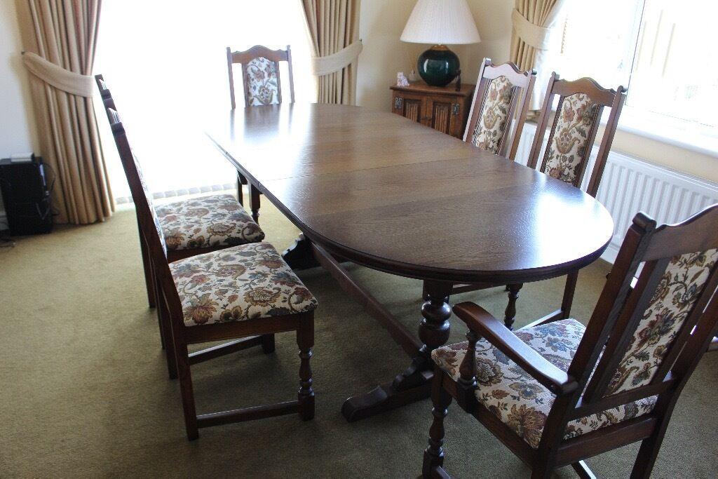 Old Charm Lancaster Light Oak Extending Dining Table 4
