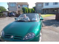 MGtf lemans green 2002. 52000miles beautiful condition ..