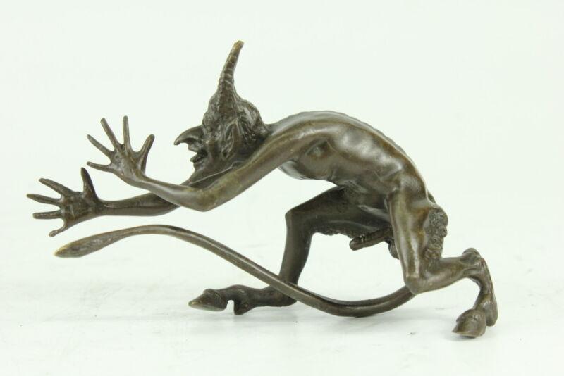 Hand Made French Bronze Devil/Demon/Gargoyle/Satyr Hot Cast Figurine Sale