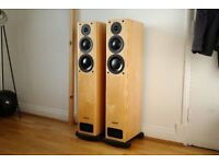Pair of PMC OB1 Floor Standing Speakers Pine Light wood MINT Boxed OOO not TWENTY FB1+ EB1 FACT B&W