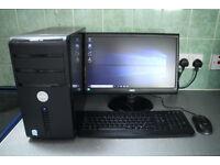Dell Vostro PC 2x 2gHz Processor, 4gb Ram, 500gb HDD, Wifi,LED Monitor,Windows 10, Logitech Speaker
