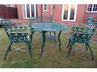 Garden Furniture Cast Iron