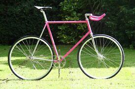61cm hand built fixie / single speed track bike large frame colombus tubing chrome