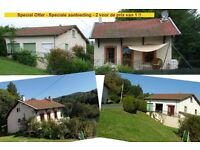 FRANCE, AUVERGNE >>> Special **TWO Houses ---- 4+ bedrooms located in a Country Park