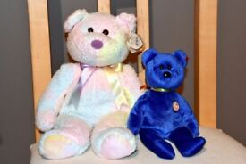 Beany toys x2 for sale. Beany Buddy 'Shell' and Beany Baby 'Clubby'