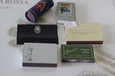 SEI SCATOLE DI FIAMMIFERI DA COLLEZIONE ANNI '70  VINTAGE MATCH BOXES HONG KONG
