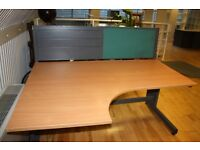 Office Wooden Desk and Cabinet Drawer Perfect Condition Partition