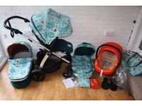 Mamas and Papas Sola 2 Donna Wilson Fox Leaf pram +car seat travel system 3 in 1 CAN POST