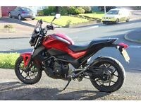 Honda NC750S in excellent condition with low miles remainder of warranty until 18-04-17