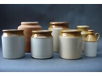 Antique Stoneware Storage Jars