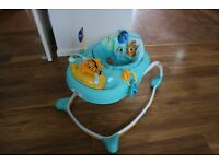 "Disney Finding Nemo ""Sea & Play"" Baby Walker. Not much used. Adjustable-height seat."