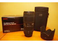 Sigma 70-200mm F2.8 II APO EX DG MACRO Lense