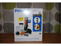 Philips HR2876/01 Daily Collection Mini Blender with Mini Chopper, 0.6 L, 350 W