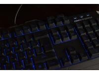 Cooler Master Devastator CM STORM Keyboard SGB-3010-KKMF1-UK, Black with Blue LED and UK Layout