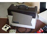 Carr Skylark guitar amplifier in Slub/Alligator trim