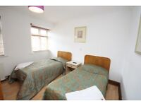 A spacious twin room located close to East Acton Station and local amenities