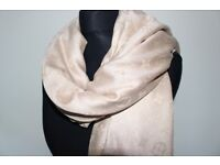 Luxury Louis Vuitton champagne colour Scarf /Shawl - brand new