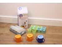 Baby food trays (freezer) + tommee tippee beakers