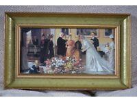 Vintage print of bridal party
