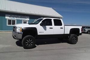 2011 Chevrolet SILVERADO 2500HD LT,CREW,4X4,SHORT BOX, LIFTED