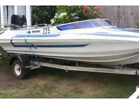 bargain speedboat with 90hp merc engine and trailer
