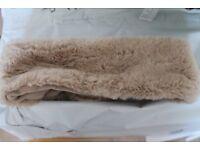 Fleece lined, fluffy, super soft, winter headband wrap ear muffs