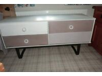 old retro sideboard painted in a grey/neutrals,4 drawers