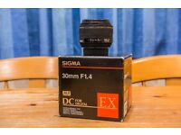 Sigma 30mm f1.4 EX DC HSM for Nikon