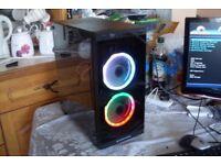 Gaming PC AMD 3.5GHz Quad Core 8GB RAM 120GB SSD RX 560 4GB GPU Windows 10 RGB Lighting